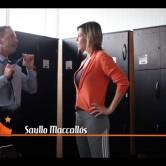 Tatiana Sulepa entrevistando o advogado Saullo Maccalós no vestiario da academia Bio Ativa (Atama Filmes, 2012).