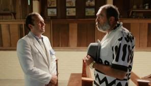 Pastor Elmo (Eduardo Mendonça) e Leon (Luis Franke).