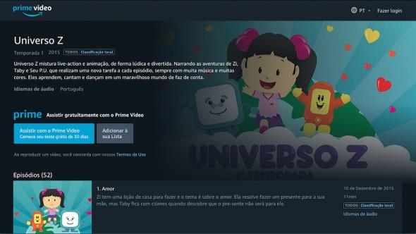 Universo Z no prime video